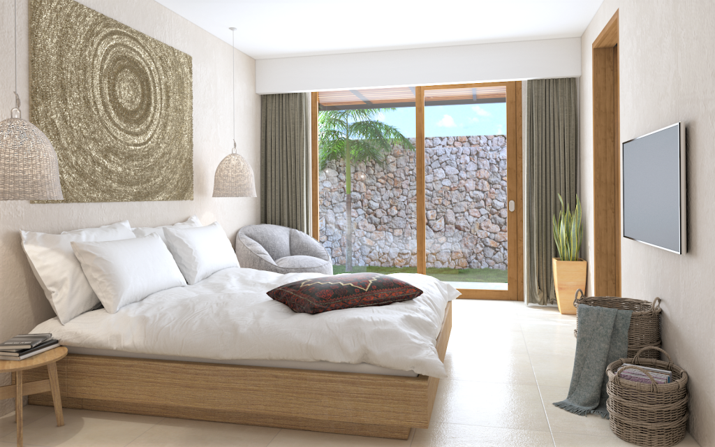 Palm Bedroom HD